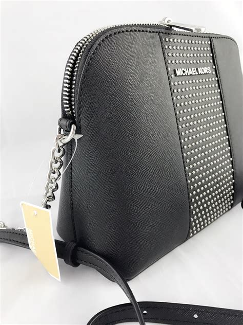 Dompet Michael Kors Micro Stud Zip Navy Original michael kors black micro studded dome chain crossbody bag black silver 191262315688 ebay