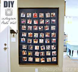 display gallery diy instagram photo wall display