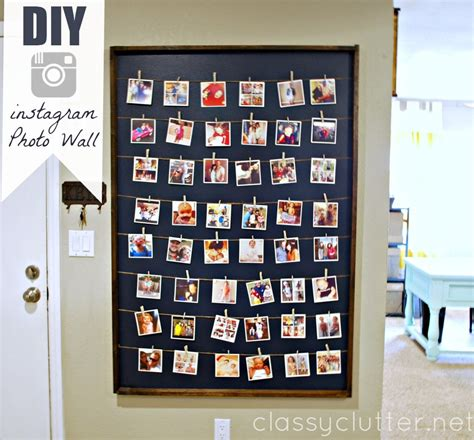 wall displays diy instagram photo wall display