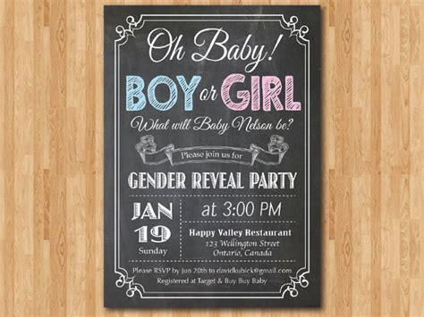 36 Gender Reveal Invitation Template Free Premium Templates Free Printable Gender Reveal Invitation Templates