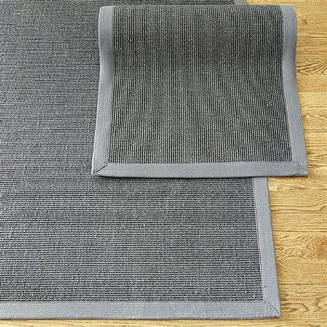 Grey Kitchen Rugs Gray Sisal With Gray Border Rug