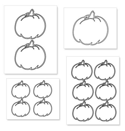 multiple pumpkin coloring pages best pumpkin outline printable 22954 clipartion com