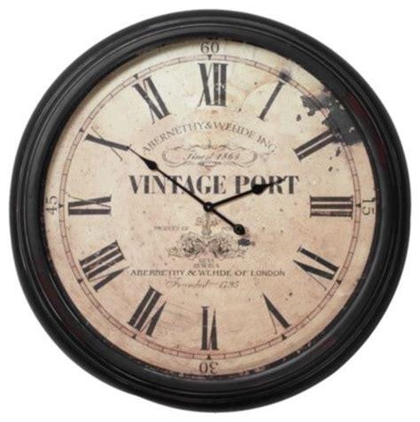 houzz wall clocks vintage port wall clock contemporary wall clocks by