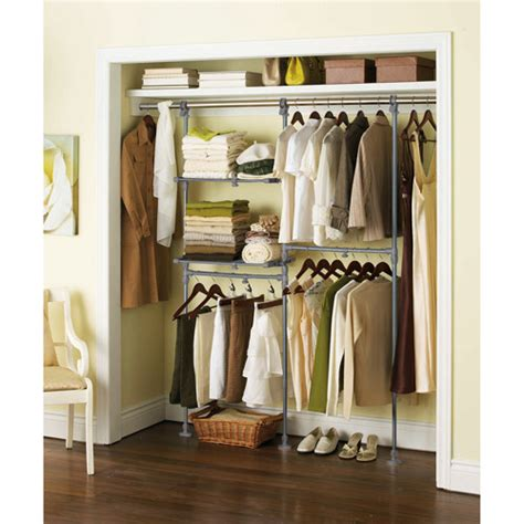 Walmart Closet Rack by Mainstays Custom Closet Organizer Kit Walmart
