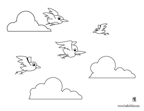coloring page of birds flying flying birds coloring pages hellokids com
