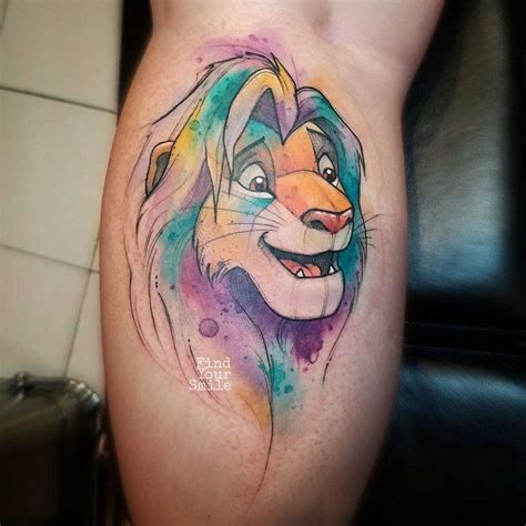 watercolor tattoo lion best 25 king tattoos ideas on disney