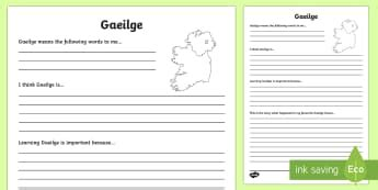 lesson plan template gaeilge gaeilge assessment primary resources 5th 6th class page 1