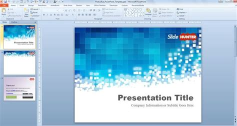 powerpoint templates for software presentation free pixels blue powerpoint template