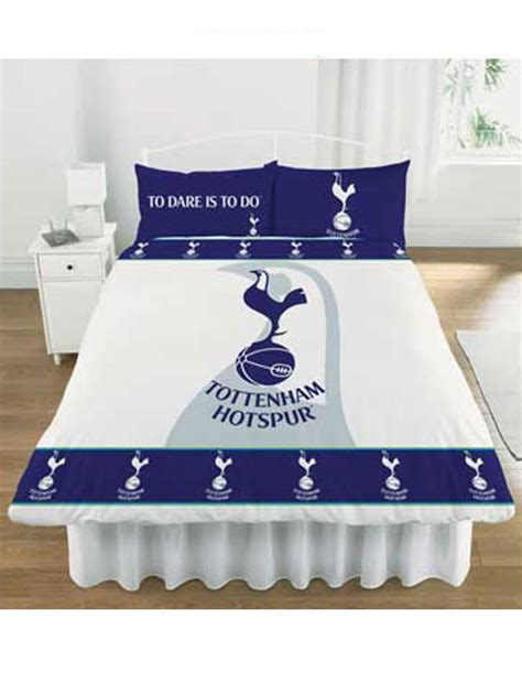 Double Bed Duvet Size Tottenham Hotspur Tottenham Fc Double Duvet Cover And