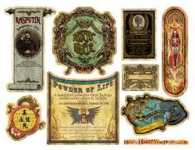 Cool new labels for 2013 from how to haunt your house com