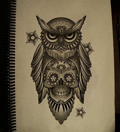 sugar skull celtic owl tattoo design art pinterest owl mexican skull by frah tattoos pinterest mexican
