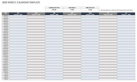 google calendar templates smartsheet