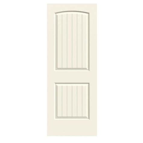 24 X 80 Interior Door Jeld Wen 24 In X 80 In Molded Smooth 2 Panel Arch Plank Vanilla Solid Composite