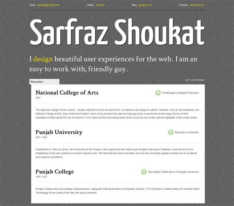 templates cv html css free creative and professional css3 cv resume template
