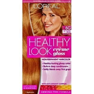 l oreal healthy look creme gloss hair color choose your color ebay l oreal healthy look hair dye creme gloss color 6g light golden brown