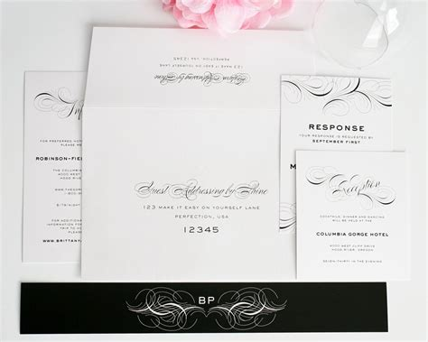 Wedding Invitations Addressing by Luxe Flourish Wedding Invitations Wedding Invitations By