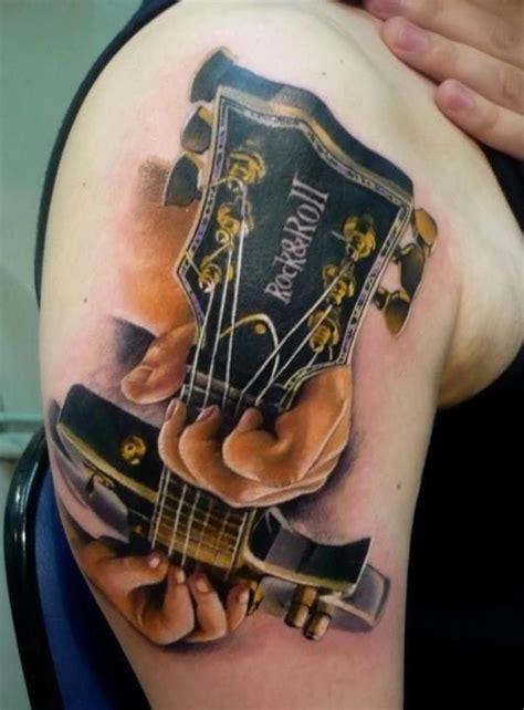 tattooed heart guitar cover 40 music tattoos that rock tattoodo