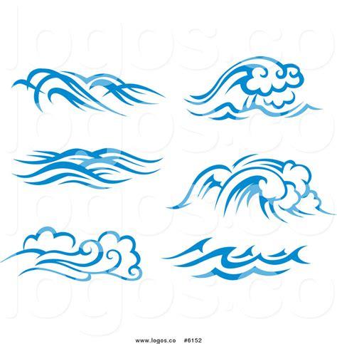 sea wave logos vector free stock vector royalty free clip vector logos of blue and white