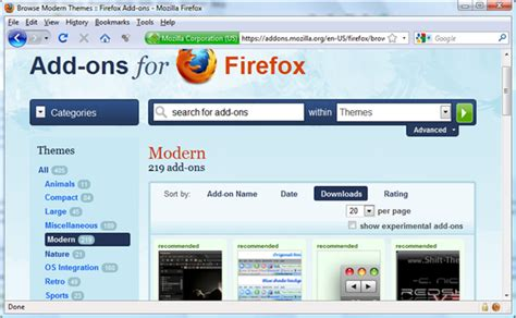 firefox themes how to change change mozilla firefox theme
