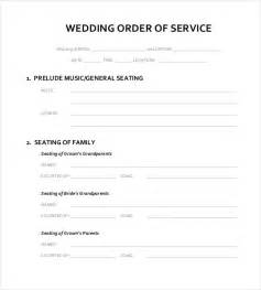 Wedding Order Of Service Template by 13 Wedding Order Of Service Templates Free Sle