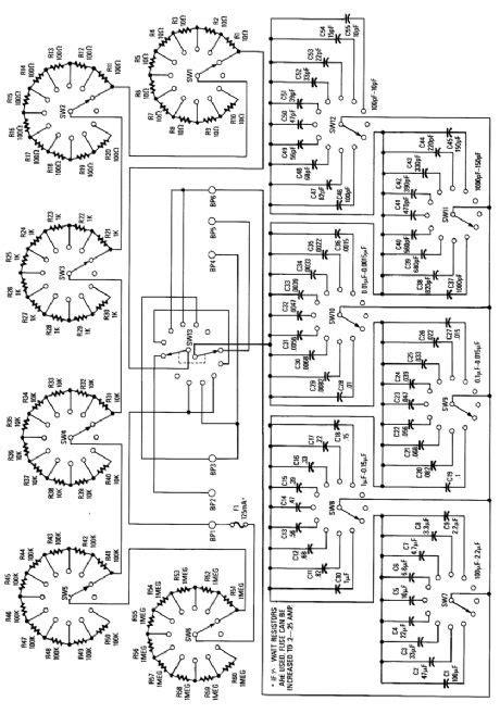 resistor decade box schematic decade resistance box circuit diagram 28 images resistance box drawing decade resistor