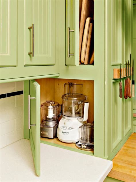 kitchen appliance storage cabinet kitchen storage ideas digsdigs kitchen appliance storage