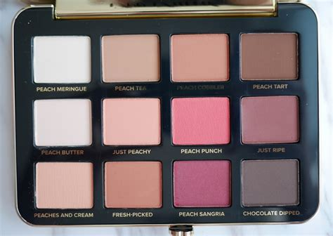 Eyeshadow Faced faced just peachy matte eyeshadow palette lipstick in on the swatch