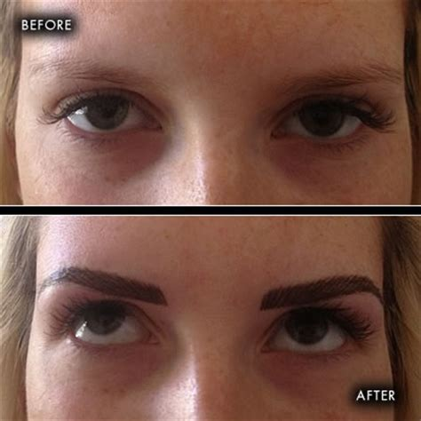 Tattoo Eyebrows Northern Ireland | before and after photographs semi permanent make up