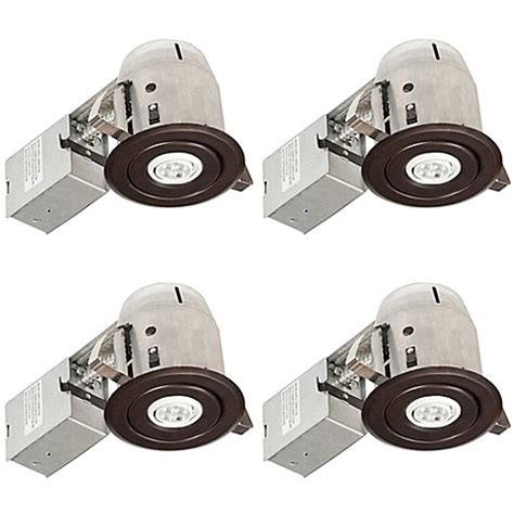 3 led recessed lighting kit globe electric 3 inch ceiling mount led recessed lighting