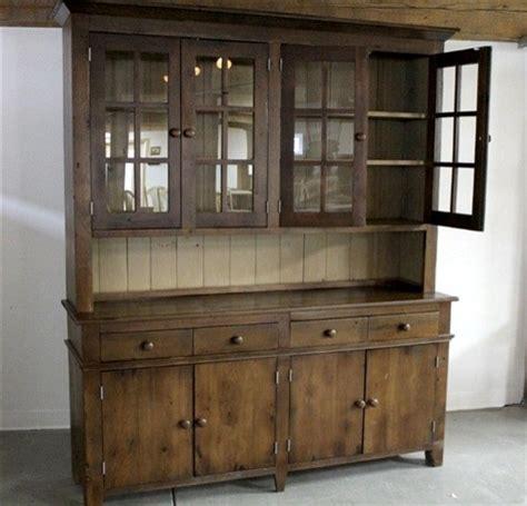 Rustic Kitchen Hutch by Rustic 4 Door Pine Hutch White Interior Rustic