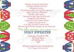 ugly sweater holiday party ideas on pinterest ugly