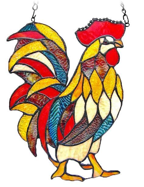 stained glass rooster l 105 best stain glass birds chickens images on pinterest