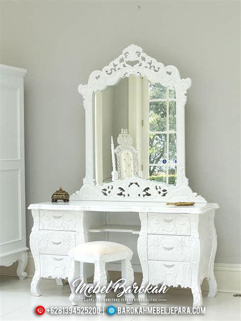Meja Rias Putih meja rias klasik modern duco putih mewah terbaru js 0180
