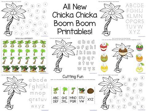 chicka chicka boom boom tree template chicka chicka boom boom theme printables