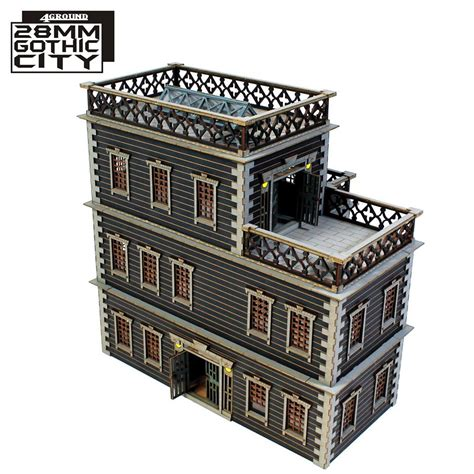 grant house 4ground show off their 28mm gothic city centre