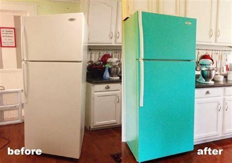decor diy painted refrigerator diy decor and more