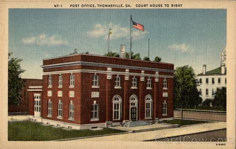 Thomasville Post Office post office court house to right thomasville ga