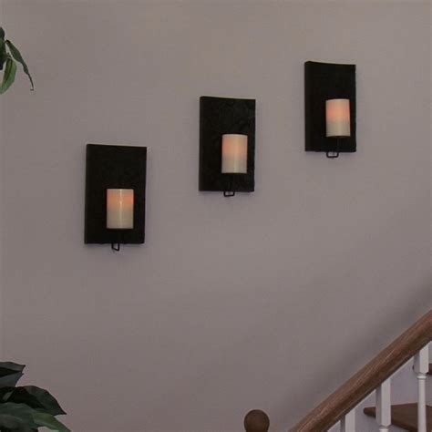 Flameless Wall Sconces Wholesale Flameless Candle Sconce Solstice With Flameless Candle