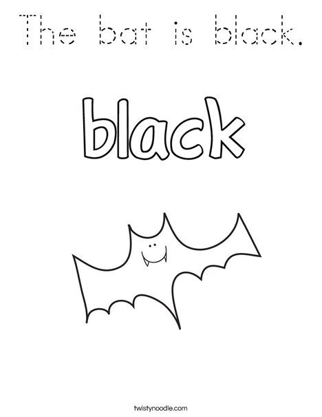 black bat coloring page the bat is black coloring page tracing twisty noodle
