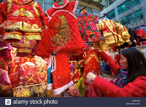traditional chinese new year clothes hong kong china