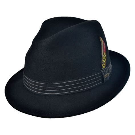 Fedora Hats scala fashion felt fedora hat crushable