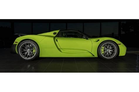 Would You Pay 2 9 Million For This Acid Green Porsche 918