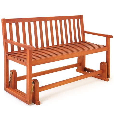 swinging patio bench wooden garden swing bench seater outdoor swinging rocking