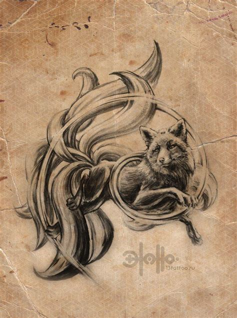 nine tailed fox tattoo 9 tails kitsune fox kitsune