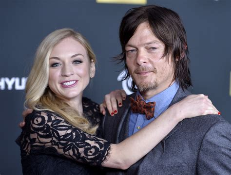 are walking dead stars norman reedus and emily kinney norman reedus denies dating emily kinney radio and tv talk
