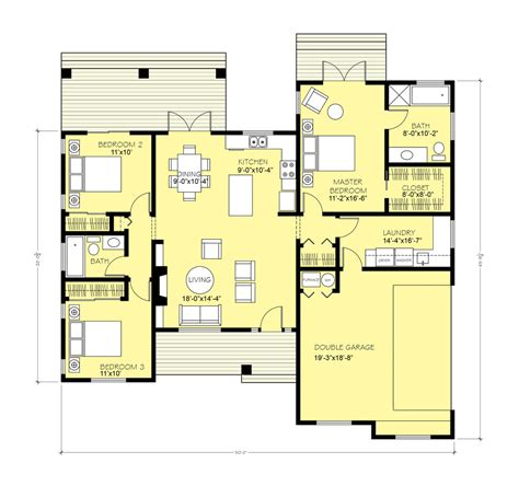 1600 sq ft floor plans ranch style house plan 3 beds 2 baths 1403 sq ft plan