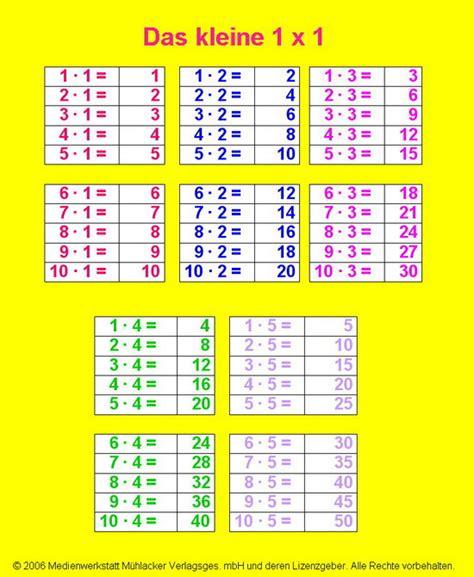 mal tabelle arbeitsblatt vorschule 187 das kleine einmaleins 252 bungen zum