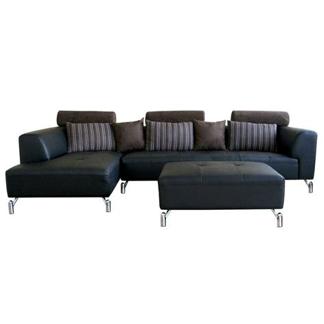 Modern Black Sofas Vintage Black Leather Mid Century Contemporary Sectional Leather Sofa