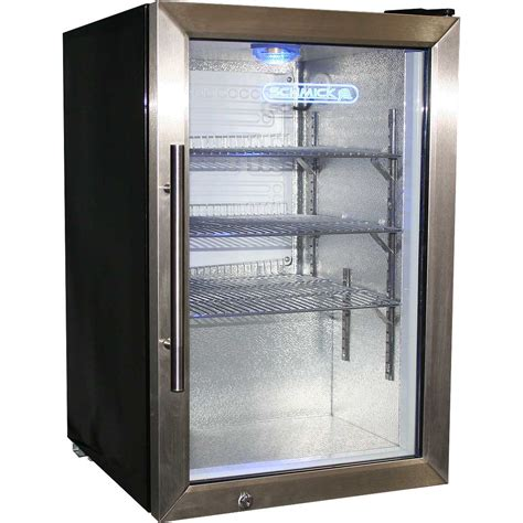 Glass Door Mini Refrigerator Tropical Glass Door Fridge Compact 68 Litre With Lock