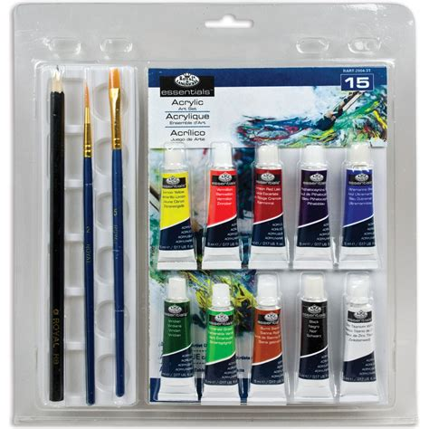 acrylic paint set kmart clamshell sets acrylic painting 15pc